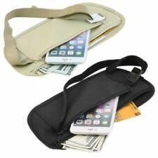 Travel Waist Pouch Passport Money Belt Bag Hidden Security Wallet Black Bags