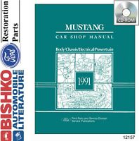 1991 Ford Mustang Shop Service Repair Manual CD Engine Drivetrain Electrical OEM