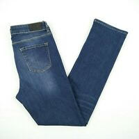 JAG The Bianca High Rise Slim Straight Blue Stretch Denim Jeans Women's Size 32