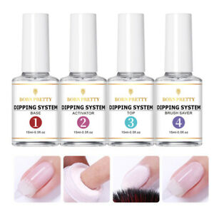 4Pcs/Set BORN PRETTY 15ml Dipping Powder System Dip Liquid Nail Art Starter Kit