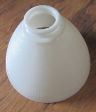 "Vintage Corning White Milk Glass Torchiere Lamp Shade Waffle Weave 8"" Sconce"