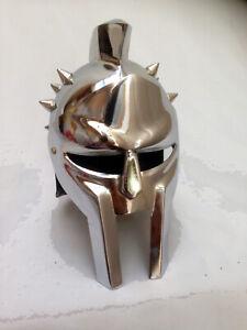Mini Römische Gladiator Helm, Chrom Beschichtet Eisen Stahl Tisch Dekorativ Helm