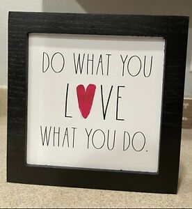 Rae Dunn Do What You Love, Love What You Do Frame 9x9in NEW