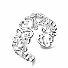 8PCS New Design 925 Silver beauty Women's Ring open Adjustable Rings Fashion