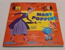 """45 TOURS DISQUE LIVRE WALT DISNEY  """" MARY POPPINS """" RARE"""
