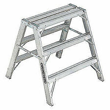 LOUISVILLE L-2032-03 LOUISVILLE Sawhorse Ladder,Aluminum,34-3/4 W,37 H,
