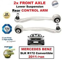2x FRONT AXLE Lower Rear ARMS for MERCEDES BENZ SLK R172 Convertible 2011->on