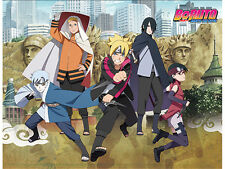 Naruto Boruto Group Fleece Throw Blanket Anime Manga NEW