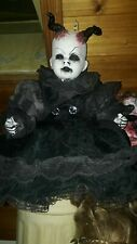 ooak horror doll #darkne #evil #demons  horror # Goths #haunted #gothic dark art
