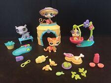 LPS Littlest Pet Shop Pets in the Jungle Set #1449 1450 1451 1452 Rhino Cat Bird