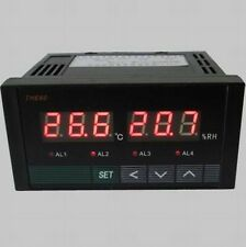 Digital Temperature &Humidity Controller Four road relay output+ DIN and UK-tone