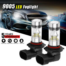 Pair 9005 9145 H10 HB3 High Power COB LED Bulbs 6500K LED Fog DRL Driving Light