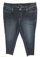 LANE BRYANT plus size 20 dark wash blue distressed Genius Fit skinny ankle jeans