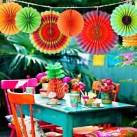 60×Paper Fan Mexican Fiesta/Cinco De Mayo /Carnival/ Kids Party Home Hanging Fan