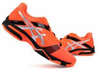 ASICS GEL BLAST 7 Men's Badminton Shoes Sports Indoor Neon Orange NWT E608Y-3093