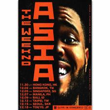 Silk Poster The Weeknd Star Boy World Tour Concert R&B Music Album B-943