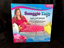 Snuggie Tails Super Soft Blanket ADULT size PINK MERMAID CAR OUTDOORS HOME