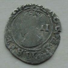 More details for charles i stuart period civil war mm (p) silver half-groat tower mint 17mm 0.79g