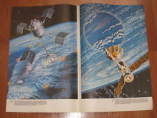 Vintage SOVIET Russian Poster ASTRONAUTS Space Paintings by Leonov & Sokolov #4