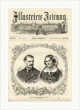 Herzog Max und seine Gemahlin Herzogin Ludovica in Bayern Holzstich E 10261