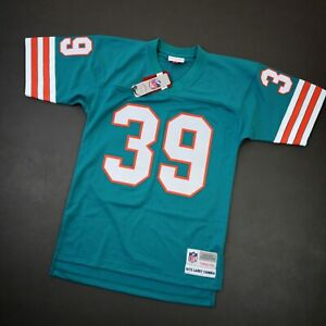 100% Authentic Larry Csonka Mitchell Ness 1972 Dolphins Legacy Jersey Size 36 S