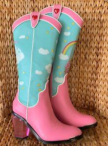 New Care Bears X Dolls Kill Cowboy Boots Size 8