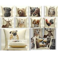 Tapestry Animal 17in x 17in  Cushion Covers Featuring Dogs Wolf Deer Horses