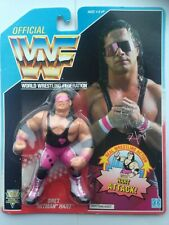 WWF HASBRO BRET HITMAN HART moc new wwe WITH PROTECTIVE CASE