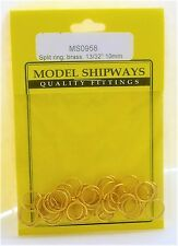 Model Shipways Fittings MS 0958 Split Ring, Brass 13/32'' (10mm) 20/pack. NEW