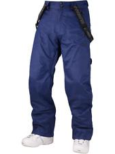 "Surfanic Mens Lockdown Ski Snowboard Pants Salopettes Waterproof Large 36""W Navy"