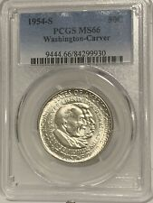 1954 S Washington-Carver Commemorative Silver Half Dollar PCGS MS66