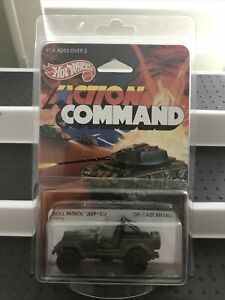 Vintage 1984 Hot Wheels ACTION COMMAND Roll Patrol Jeep #9375 w/Protecto NICE