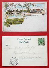 Litho AK OPPELSDORF in Schlesien 1897 Hotel Annenhof und Carola Bad    ( 30950