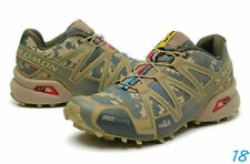 Hot Men's Outdoor Salomon Speedcross 3  Gray camouflage Sports Hiking Shoes