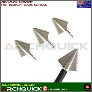 3/6x Archery Hunting Broadhead 2 Blade 125/150grain Compound Recurve Bow Hunting