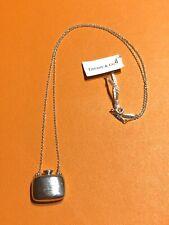 "Tiffany & Co Elsa Peretti Sterling Silver 18"" Bottle Chain Pendant Necklace"