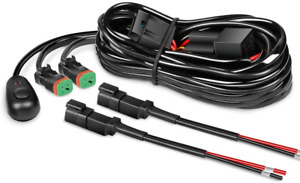 Nilight 16AWG DT Connector Wiring Harness Kit LED Light Bar 12V On Off Switch