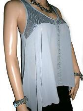 Chiffon Hip Length Boat Neck Tops & Shirts for Women