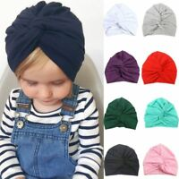 Infant Baby Girl Children Twist Knot Indian Turban Hat Cotton Hair Head Wrap Cap
