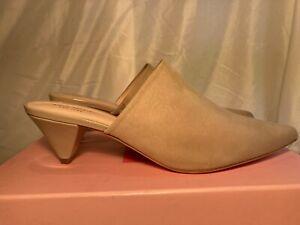 Kate Spade Womens Ryan Kitten Heel Leather Mules Sandals Beige UK 7.5 rrp £145