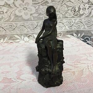 Antique Bronze Figurine Woodland Nymph Signed Giovanni Schoeman C1977