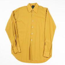 VGC 70s Vintage Nylon Shirt | Men's M | Retro Plaid Seventies Dagger Collar