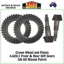 Crown Wheel & Pinion 4.625:1 fit GQ GU Patrol Front & Rear Diff Gears