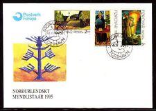 Îles Féroé 1995 FDC mi.280/82 art nature | tableaux paintings | Hans pauli Olsen