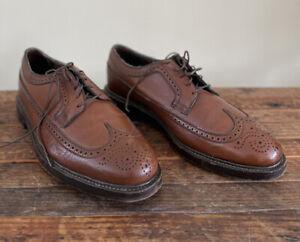 VTG Florsheim Kenmoor Royal Imperial Wingtip Brogue Leather Brown Shoes 10.5 3E