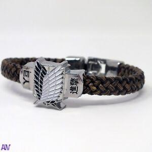 Attack on Titan Anime Bracelet Wristband UK Stock