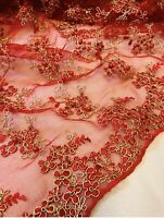 1 meter mintpink scalloped on both sides heavy embroidery pearl beaded diamond stud bridal tulle net fabric 52\u201d wide limited stock
