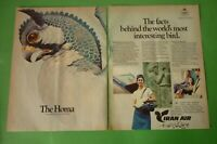 1977 Original Advertising' Air Iran Airlines The Homa 2 Pages