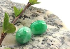 Natural Green Jade Carved Chinese Lucky Barrel Bead +  Necklace 001