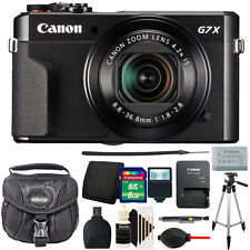 Canon G7X Mark II PowerShot 20.1MP Digital Camera (Black)+ Deluxe Bundle